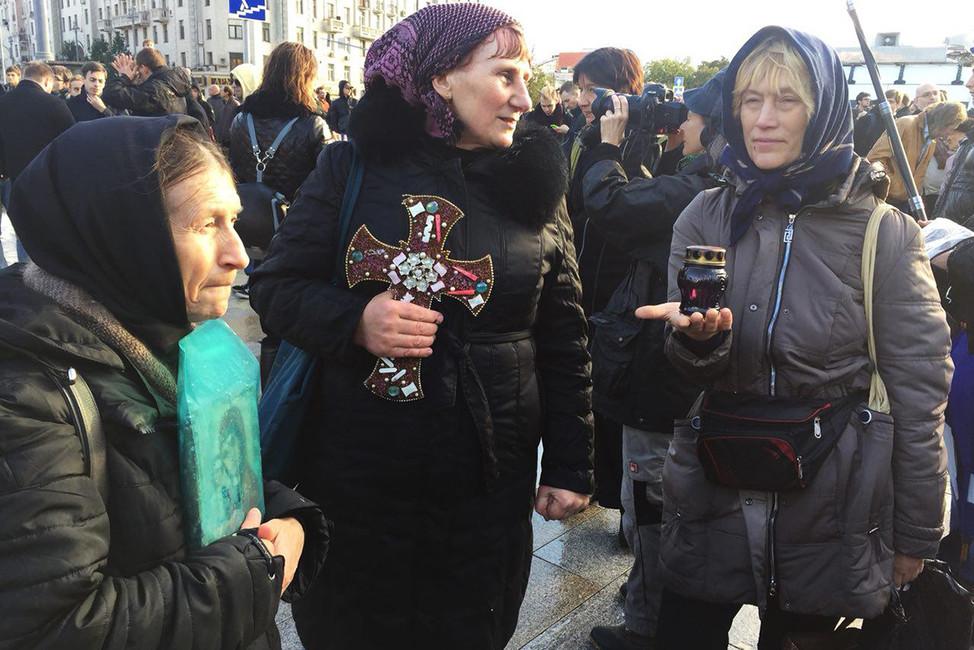 Вовремя акции сторонников Алексея Навального наПушкинской площади. Фото: Открытая Россия