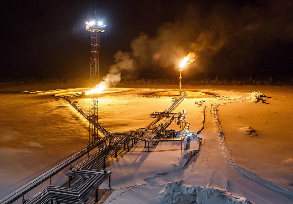Соровское месторождение нефтяной компании «Бурнефтегаз». Фото: Максим Слуцкий/ ТАСС