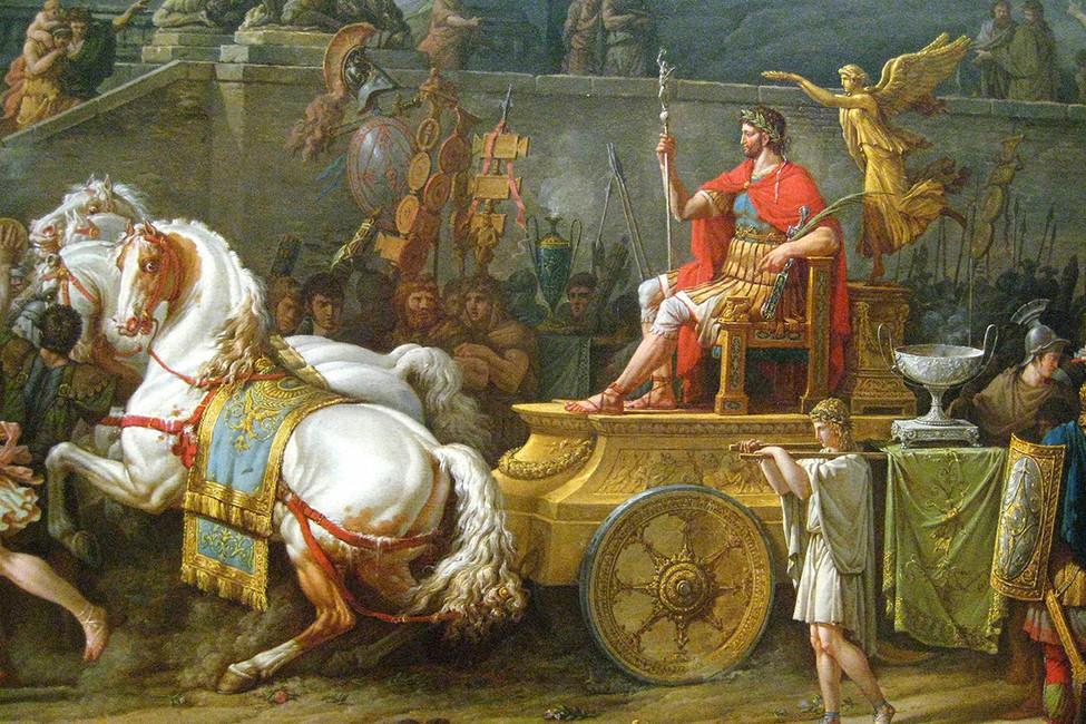 Триумф Эмилия Павла (фрагмент). Художник: Карл Верне, 1789 год