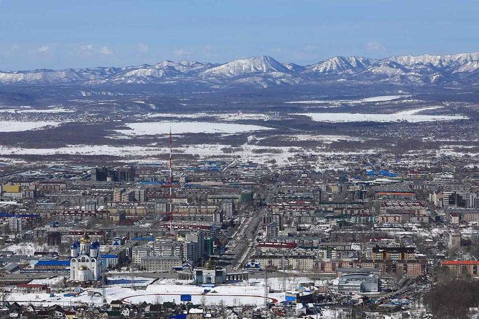 Южно-Сахалинск, 25марта 2017года. Фото: Андрей Голованов/ ТАСС