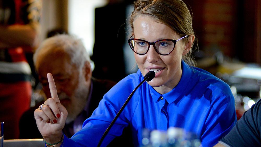 Пресс-конференция Ксении Собчак. Видео