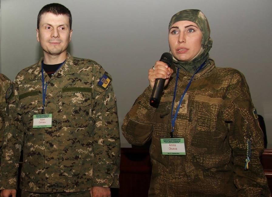Адам Осмаев иАмина Окуева. Фото: Facebook