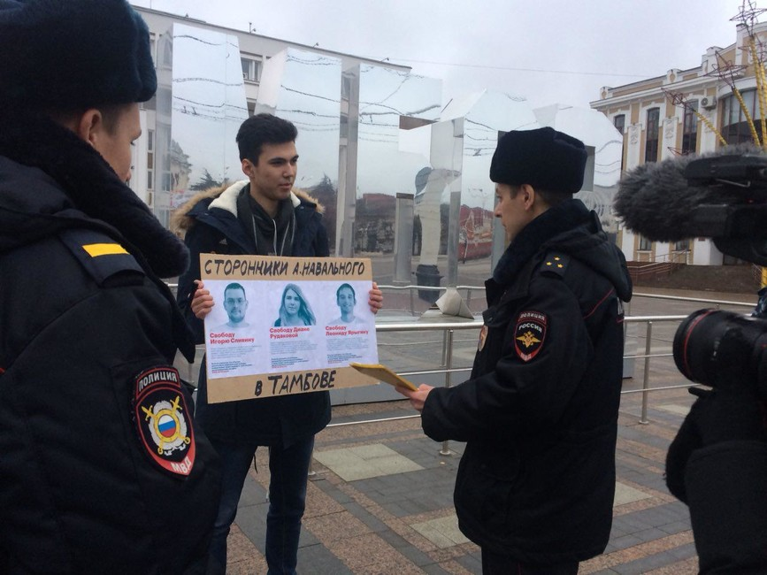 Помощник координатора штаба Навального вТамбове госпитализирован изИВС после сухой голодовки