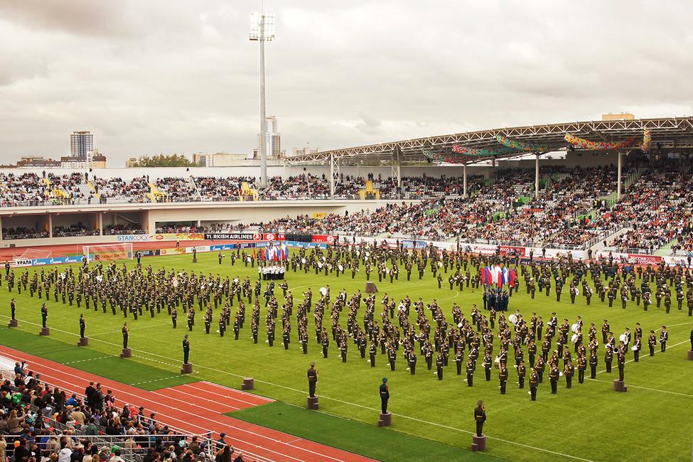 Торжественная церемония открытия реконструированного Центрального стадиона. Фото: Владимир Васильев