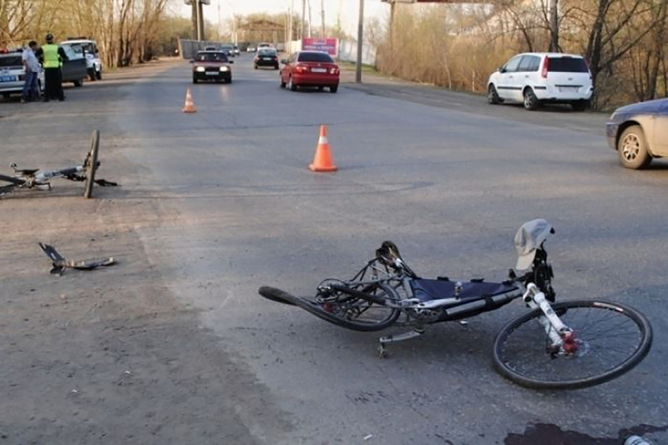 Место ДТП, где был сбит Владимир Кабанов. Фото: 55.mvd.ru