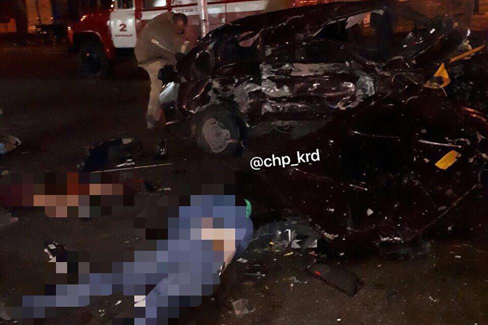 Погибшая молодая пара наместе аварии. Фото: @chp_krd