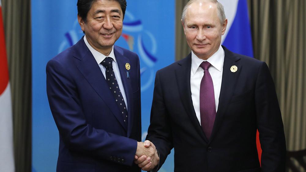 Путин договорился овстрече сяпонским премьером через два месяца после президентских выборов— вмае
