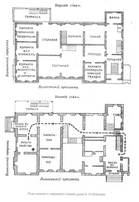 План Ипатьевского дома