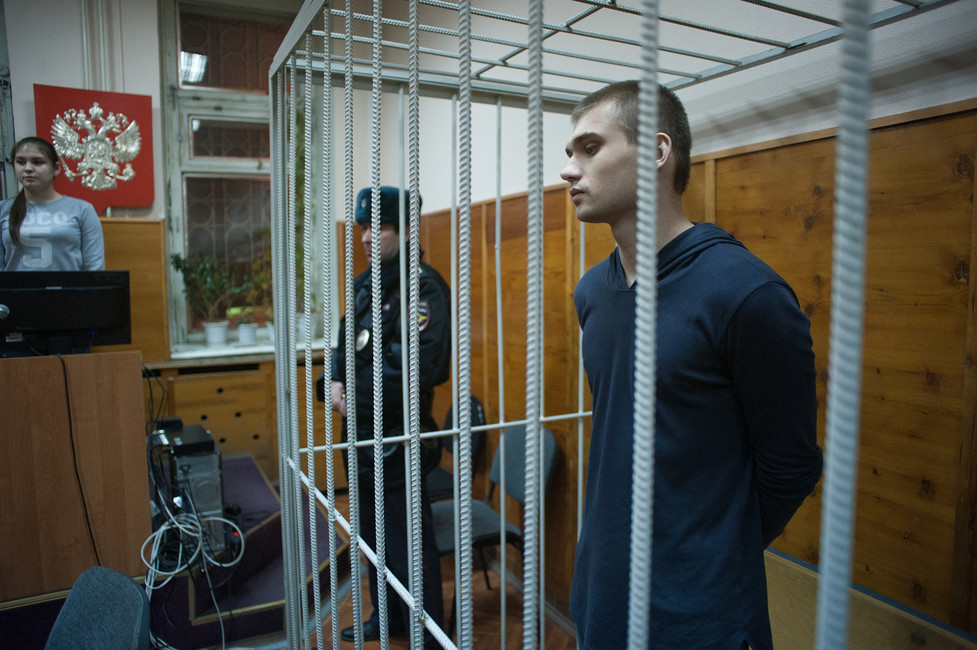 Руслан Соколовский всуде, 19января 2017года. Фото: Анна Майорова/ URA.RU/ ТАСС