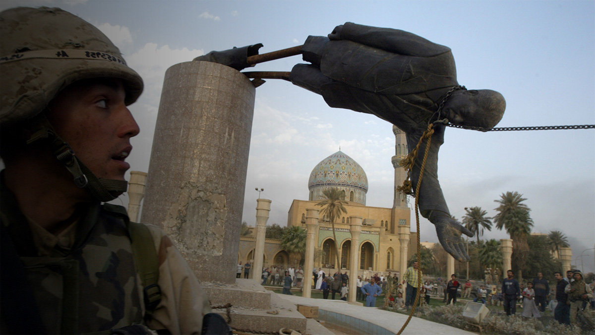 the fall of saddam hussein Iraq: the rise and fall of saddam hussein by kathleen knox deposed iraqi president saddam hussein rose from an impoverished background to become one of the world's most feared leaders.